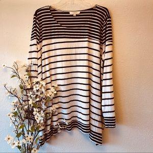 Umgee | Oversized Black & White Striped Shirt